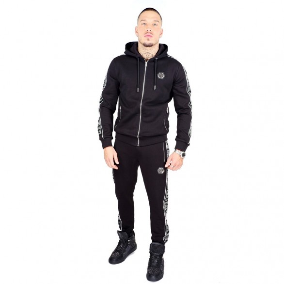 MEN'S TRACKSUIT BLACK SILVER